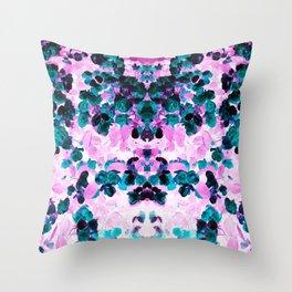 Negative Roses Print Throw Pillow