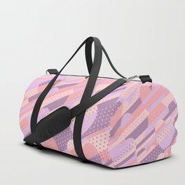 Sweet Heart Pattern (Pastel Coral Pink, Lavender) Duffle Bag