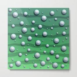 Alien Bubble Skin Green Metal Print