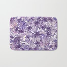 Tropical Foliage # Purple Bath Mat
