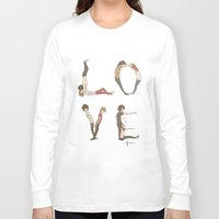 letters Long Sleeve T-shirts featuring Love Letters by Meuphrosyne