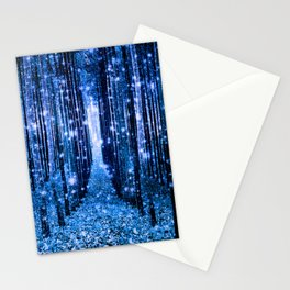 Magical Forest Bluest Blue Stationery Cards