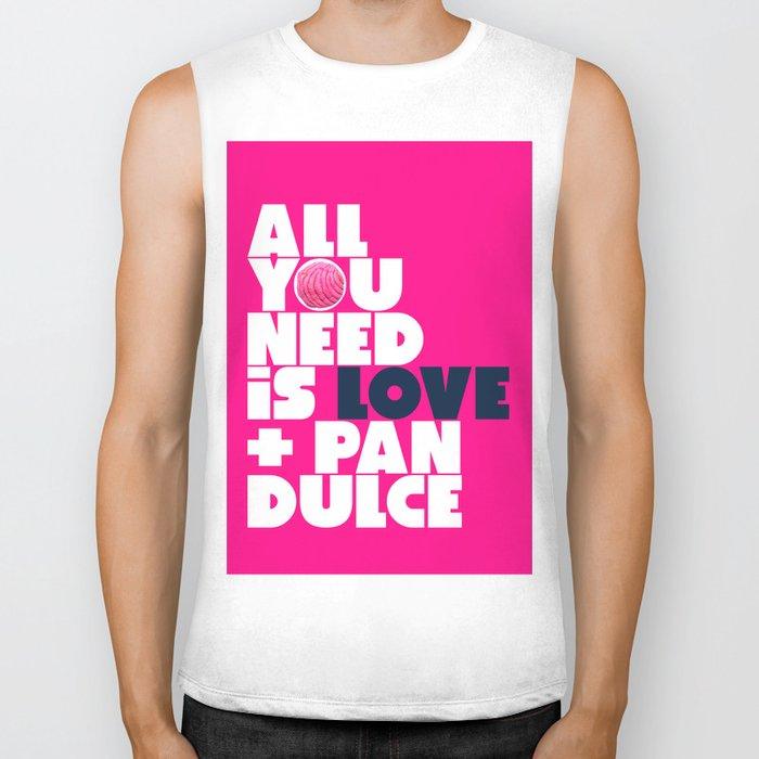 All you need is love & pan dulce Biker Tank
