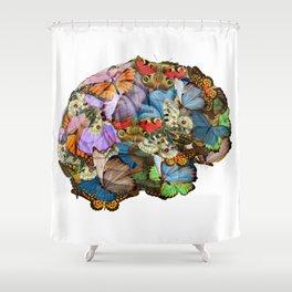 butterflies in my brain Shower Curtain