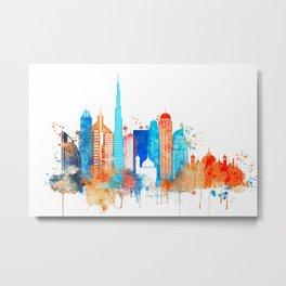 Dubai watercolor Metal Print