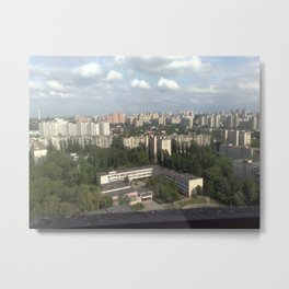 Panorama of the city of residential buildings from a height Metal Print