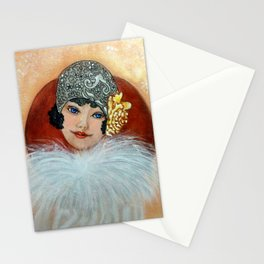 Clara, a Lady with a fancy hat Stationery Cards