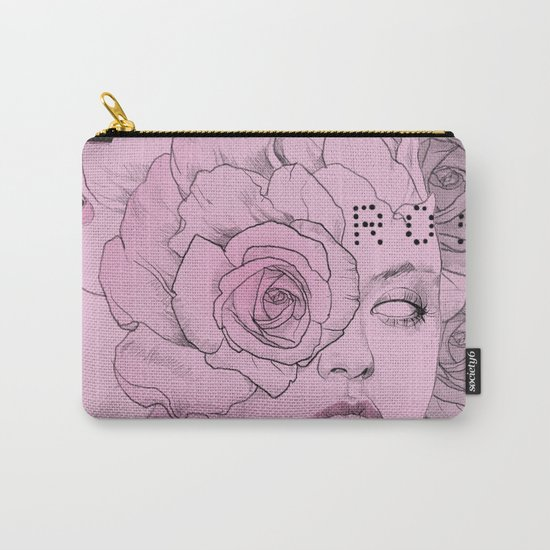 rose black Carry-All Pouch