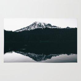 Mount Rainier Reflections Rug