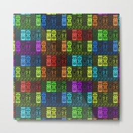 Tikis in a Rainbow of Colors! Metal Print
