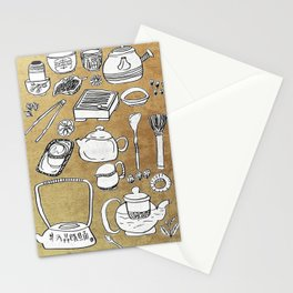 Chinese Tea Doodle 1 Stationery Cards