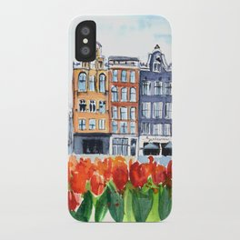 Amsterdam watercolor iPhone Case