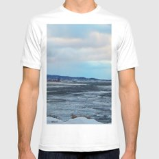 Sainte-Anne-Des-Monts et le Fleuve MEDIUM White Mens Fitted Tee