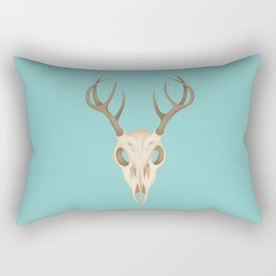 Deer Skull Rectangular Pillow
