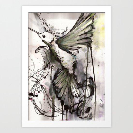 colibrí Art Print