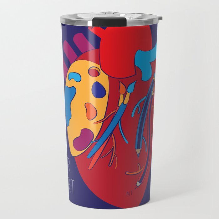 Art Out Your Colourful Heart Travel Mug