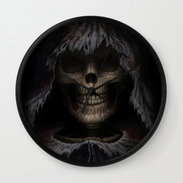 Face of Death Wall Clock