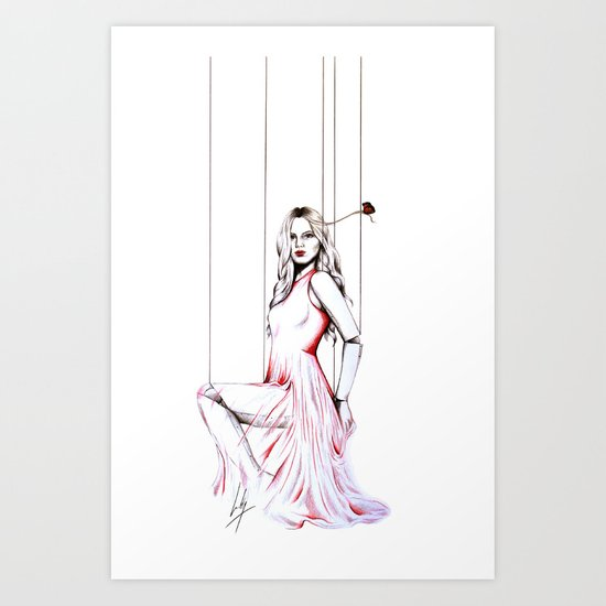 La Robe Rouge Art Print
