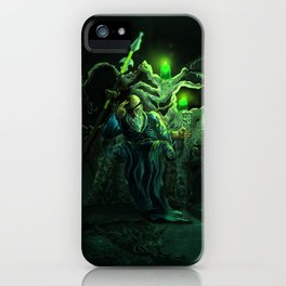 Odin and his loyal beasts iPhone Case