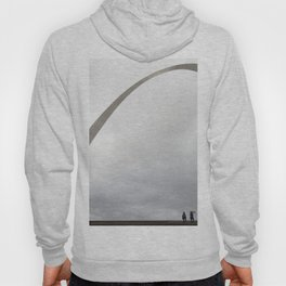 Gateway Arch and people Hoody