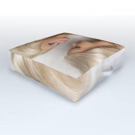 Virgin White Outdoor Floor Cushion
