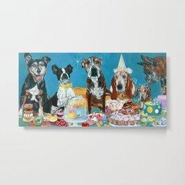 The Last Dessert Dog Portrait Metal Print