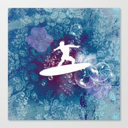 Sport, surfboarder Canvas Print