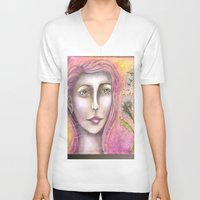 olivia joy V-neck T-shirts featuring Olivia by Art by Sandy & Mariah Gonyea