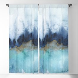 Mystic abstract watercolor Blackout Curtain