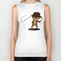 indiana jones Biker Tanks featuring Indiana Jones by Delucienne Maekerr