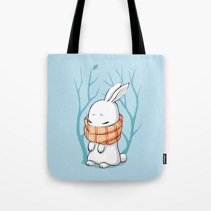 Winter Bunny Tote Bag