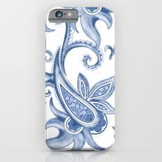 Paisley: Monaco Blue Slim Case iPhone 6
