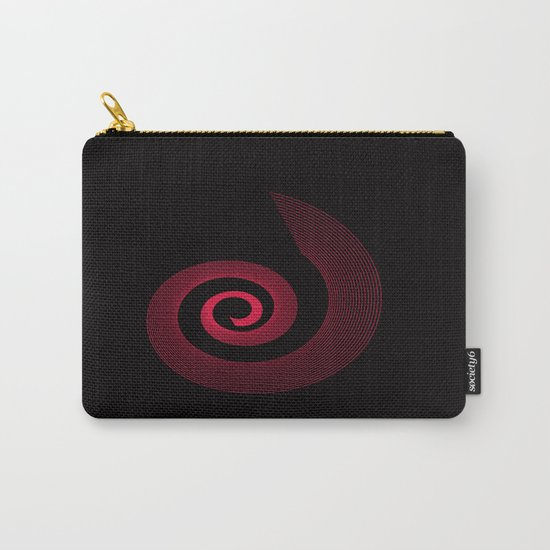 Red black spirale 5 Carry-All Pouch