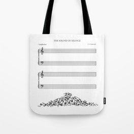 The Sound of Silence (Mono) Tote Bag