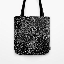 Black and white leaf pattern Tote Bag