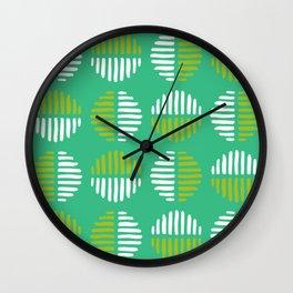 Abstract Circles Lime Green Wall Clock
