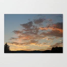 July Sunset Canvas Print