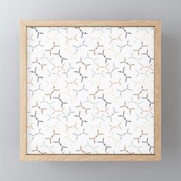 Compton scattering Feynman diagrams on White Framed Mini Art Print
