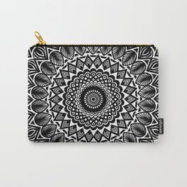 Detailed Black and White Mandala Carry-All Pouch