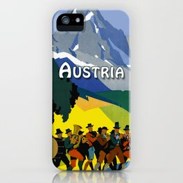Austria - Vintage Travel Ad iPhone Case
