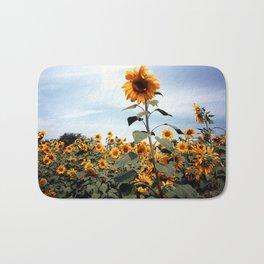 Sunflower Photograph Bath Mat