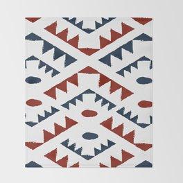 Patriotic tribe Throw Blanket