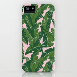 Leaves Baninque in Pink Conch iPhone Case