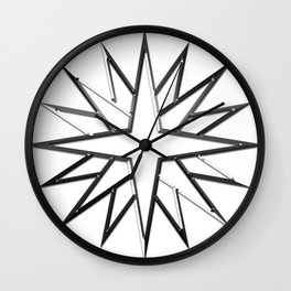 Metal Star Wall Clock