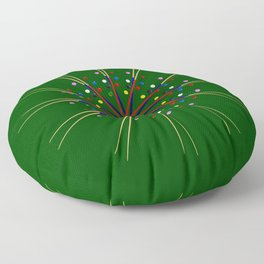 Snooker Cues and Balls Circle Floor Pillow
