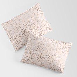 Pink Texture Gold Foil Luminous Pillow Sham