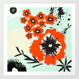 Asian Floral Modernized Art Print