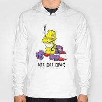 kill bill Hoodies featuring Kill Bill Bear by Andrew Mark Hunter
