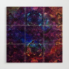 Rainbow Aura Quartz NebulÆ Wood Wall Art