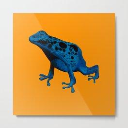 Blue Frog Metal Print